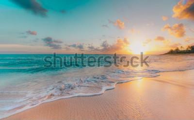 Fototapeta sea beach blue sky sand sun daylight relaxation landscape viewpoint for design postcard and calendar in thailand