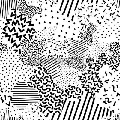 Fototapeta Seamless geometric pattern in memphis style