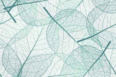 Fototapeta Seamless pattern with leaves veins. Vector illustration.