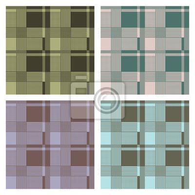 Fototapeta seamless tartan pattern, vector, set
