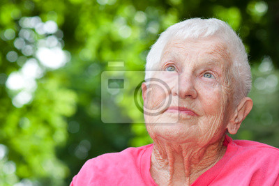 Fototapeta Senior w wózku kobieta
