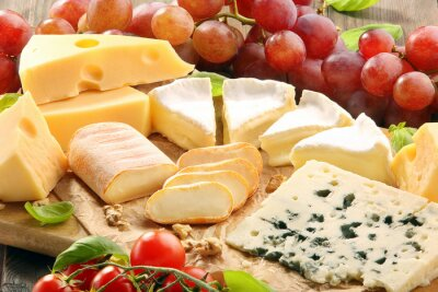 Fototapeta Ser pokładzie - różne rodzaje kompozycji sera