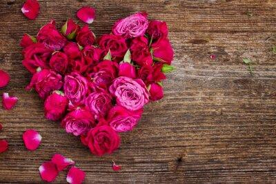 Fototapeta Serce z róż