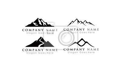 Fototapeta set logo mountain
