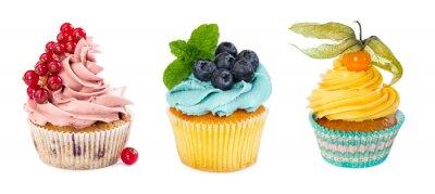 Fototapeta Set of different cupcakes