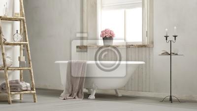 Fototapeta Shabby Chic łazienka