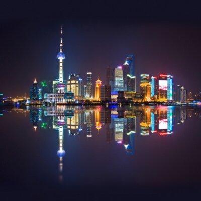 Fototapeta Shanghai skyline, Carré