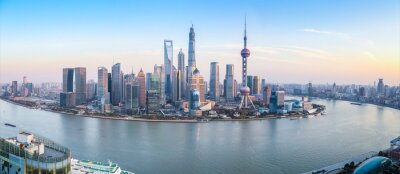 Fototapeta shanghai skyline panorama