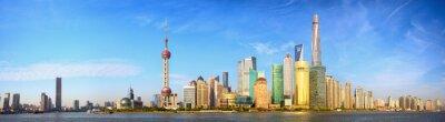 Fototapeta Shanghai skyline panorama, Chiny