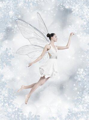 Fototapeta Silver winter fairy