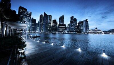Singapur miasto w czasie zachodu słońca