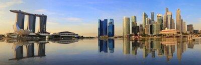 Fototapeta Singapur panorama skyline rano