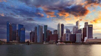 Fototapeta Singapur skyline.