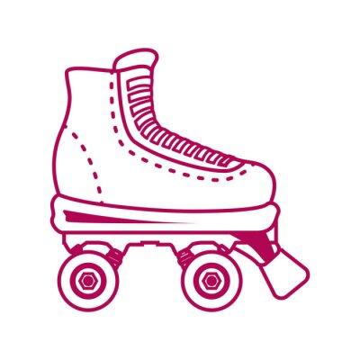 Fototapeta skates design.
