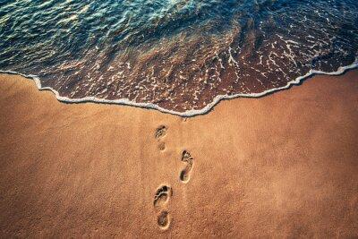Fototapeta Ślady na plaży