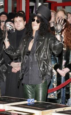 Fototapeta Slash, Ronnie James Dio i Terry Bozzio Zaproszeni do Hollywood RockWalk, który odbył się w Centrum Gitarowym Hollywood RockWalk w Hollywood, USA 17 stycznia 2007.