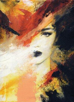 Fototapeta śliczna kobieta. ilustracja mody. Malarstwo akwarelowe