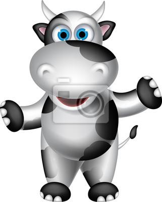 Fototapeta Słodkie stojący kreskówka krowa
