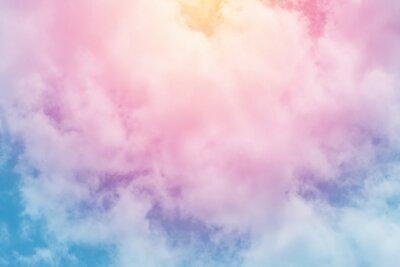 Fototapeta słońce i chmura w tle z pastelowym kolorze