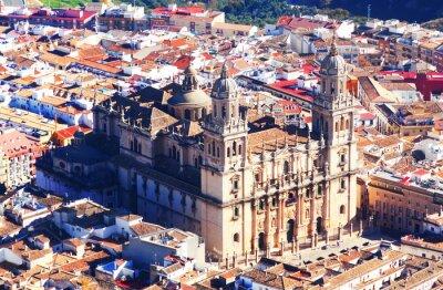 Fototapeta Słoneczny widok katedry Jaen
