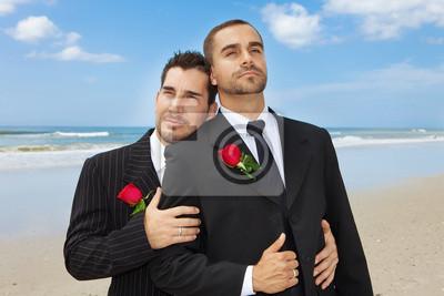 ślub Gejów Fototapeta Fototapety Homoseksualny Broda
