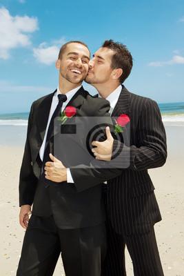 ślub Gejów Fototapeta Fototapety Boutonniere Homoseksualny Broda