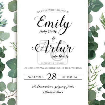 ślub Kwiatów Wyciągnąć Rękę Zaproszenie Zaproszenie Projekt Karty