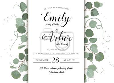 ślub Kwiatowy Wyciągnąć Rękę Zaproszenie Zaproszenie Projekt