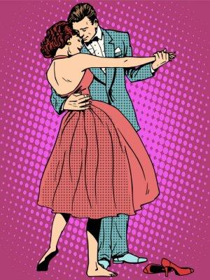 Fototapeta Ślub miłośników tańca mężczyzna i kobieta