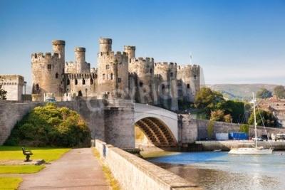 Fototapeta Słynny Zamek Conwy w Walii, Wielka Brytania, seria zamków Walesh