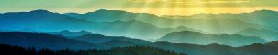 Fototapeta Smoky grzbiety górskie