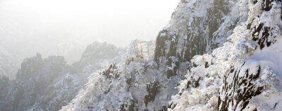 Fototapeta śnieg sceny Huangshan wzgórzu w zimie