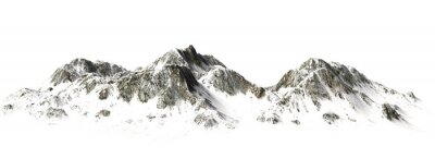 Fototapeta Snowy Mountains - Mountain Szczyt - rozdzielone na białym tle