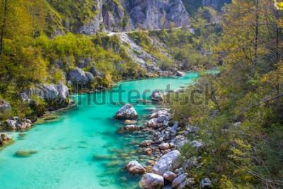 Fototapeta Soca rzeka w Słowenii, Europa