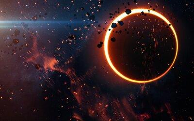 Fototapeta Solar Eclipse Powyżej mgławicy. Elementy tego zdjęcia dostarczone przez NASA