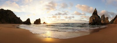 Fototapeta Sonnenuntergang am Strand w Portugalii