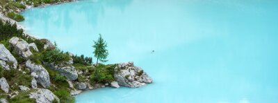 Fototapeta Sorapis jezioro, górskie Dolomity