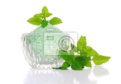 Fototapeta Spa Salt ze świeżymi ziołami