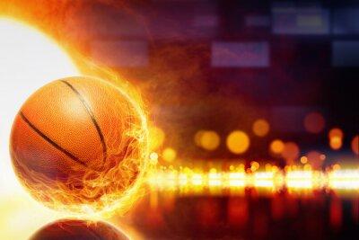 Fototapeta spalanie w koszykówkę