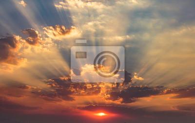 Fototapeta Spectacular Autumn Sunset, Incredible Clouds