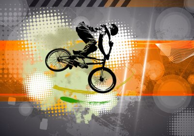 Fototapeta Sport, BMX ilustracji