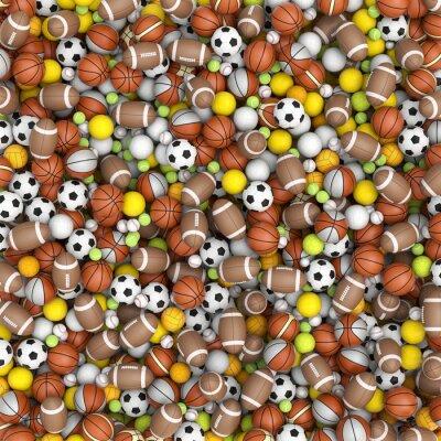 Fototapeta Sport piłki na podłodze