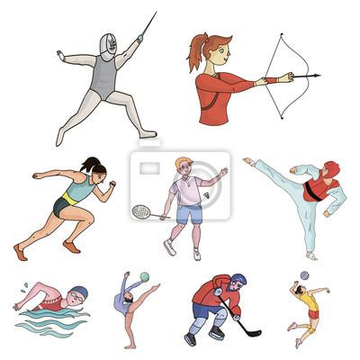 Sporty olimpijskie. sporty zimowe i letnie. zestaw zdjęć o athletes.olympic  Fototapeta • Fototapety Sporty Letnie, strzelec, karate | myloview.pl
