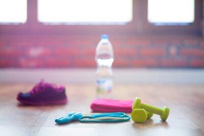Fototapeta sprzęt fitness