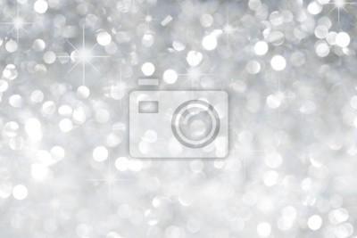 Fototapeta Srebrny tło z gwiazdami