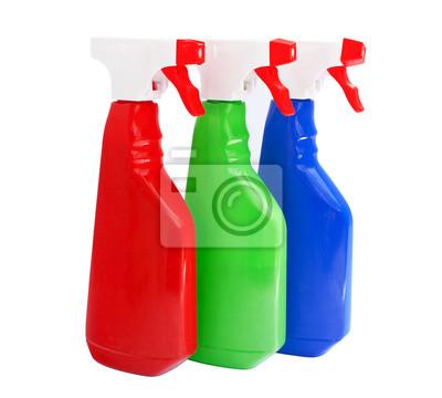Fototapeta środki czystości butelek samodzielnie na białym tle