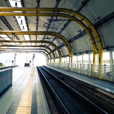 Fototapeta Stacja kolejowa
