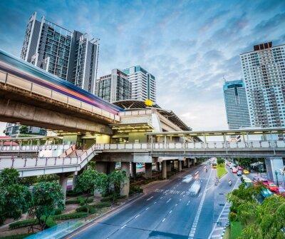 Fototapeta Stacja metra bangkok zmierzchu