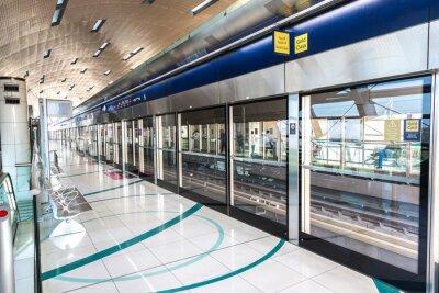 Fototapeta Stacja metra w Dubaju