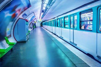 Fototapeta Stacja metra w Paryżu
